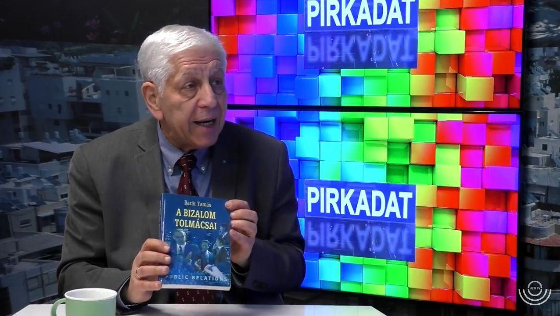 """A Heti TV 2018 március 20-i Pirkadat című reggeli adásában Breuer Péter interjút készített Barát Tamással, az MPRSZ Örökös tagjával, korábbi ügyvezető alelnökével, lapunk, a CCO MAGAZIN alapító főszerkesztőjével abból az alkalomból, hogy az Akadémiai Kiadó digitális formában újra kiadta """"A bizalom tolmácsai"""" című könyvét."""